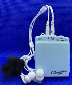 音量だけでなく音質も調整出来る高性能集音器Chojuの画像です。